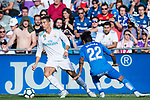 Cristiano Ronaldo of Real Madrid (L) fights for the ball with Damian Nicolas Suarez Suarez of Getafe CF (R) during the La Liga 2017-18 match between Getafe CF and Real Madrid at Coliseum Alfonso Perez on 14 October 2017 in Getafe, Spain. Photo by Diego Gonzalez / Power Sport Images