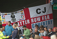 Coventry banner during Grimsby Town vs Coventry City, Sky Bet EFL League 2 Football at Blundell Park on 12th August 2017