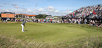 Bernd Wiesberger (AUT) putting out on the 3rd during Round One of the 145th Open Championship, played at Royal Troon Golf Club, Troon, Scotland. 14/07/2016. Picture: David Lloyd | Golffile.<br /> <br /> All photos usage must carry mandatory copyright credit (&copy; Golffile | David Lloyd)