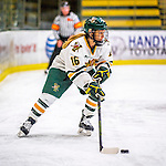 25 November 2016: University of Vermont Catamount Forward Bridget Baker, a Senior from Los Gatos, CA, in action against the Saint Cloud State Huskies at Gutterson Fieldhouse in Burlington, Vermont. The Lady Cats defeated the Huskies 5-1 to take the first game of the 2016 Windjammer Classic Tournament. Mandatory Credit: Ed Wolfstein Photo *** RAW (NEF) Image File Available ***