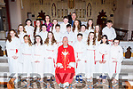 Pupils of Glounaguillach NS Caragh Lake celebrate their Confirmation with Bishop Ray Browne, Fr Michael Fleming and teacher Linda Galvin in St James church Killorglin on Thursday