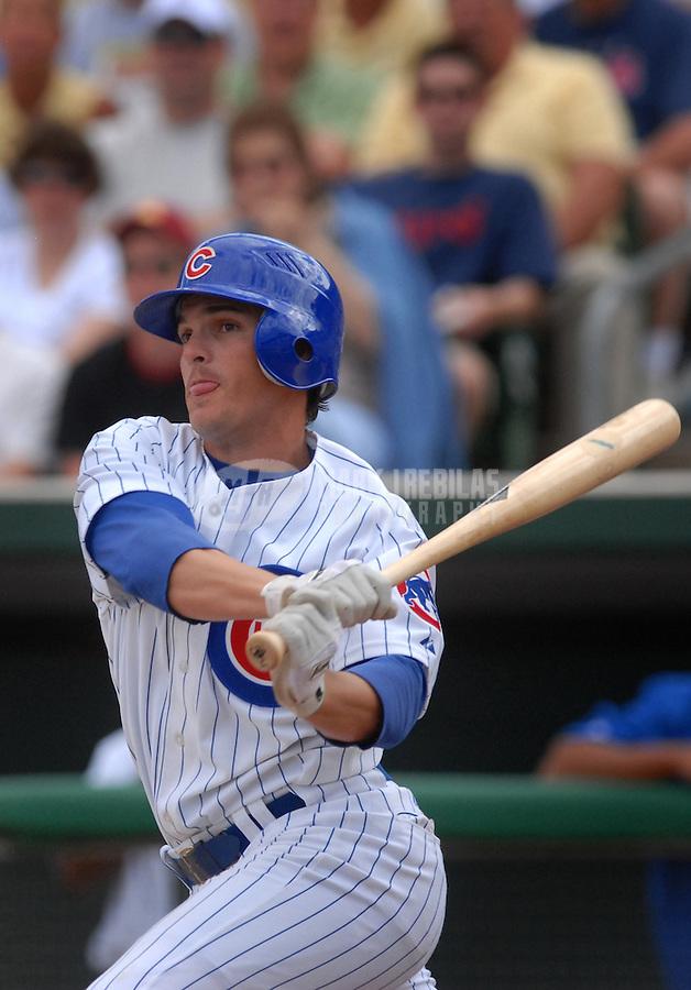 Mar 21, 2007; Mesa, AZ, USA; Chicago Cubs second baseman (2) Ryan Theriot against the Texas Rangers at Hohokam Park in Mesa, AZ. Mandatory Credit: Mark J. Rebilas