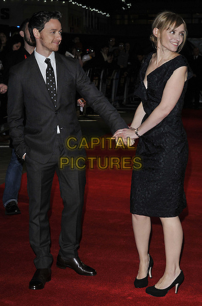 LONDON, ENGLAND - OCTOBER 17: James McAvoy &amp; Anne-Marie Duff attend the &quot;The Disappearance of Eleanor Rigby&quot; official screening, 58th LFF day 10, Odeon West End cinema, Leicester Square, on Friday October 17, 2014 in London, England, UK. <br /> CAP/CAN<br /> &copy;Can Nguyen/Capital Pictures