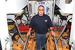 "Clogherhead Lifeboat Mechanic Padraig ""Popps' Rath on board the RNLB Dorris Beasdale..Picture:  Fran Caffrey www.golffile.ie .."