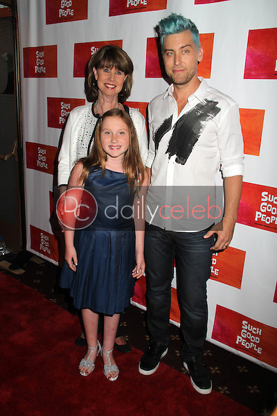 """Lance Bass, Mom, Niece<br /> at the """"Such Good People"""" Screening, Majestic Crest, Westwood, CA 06-07-14<br /> David Edwards/DailyCeleb.com 818-249-4998"""