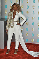 Mary J. Blige<br /> The EE British Academy Film Awards 2019 held at The Royal Albert Hall, London, England, UK on February 10, 2019.<br /> CAP/PL<br /> ©Phil Loftus/Capital Pictures
