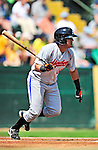 15 July 2010: Aberdeen IronBirds' infielder Omar Casamayor in action against the Vermont Lake Monsters at Centennial Field in Burlington, Vermont. The Lake Monsters rallied in the bottom of the 9th inning to defeat the IronBirds 7-6 notching their league leading 20th win of the 2010 NY Penn League season. Mandatory Credit: Ed Wolfstein Photo