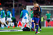 5th December 2017, Camp Nou, Barcelona, Spain; UEFA Champions League football, FC Barcelona versus Sporting Lisbon; Denis Suarez of FC Barcelona warm ups before the match