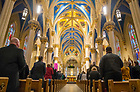 December 5, 2018; President's Holiday Prayer Service and Reception. (Photo by Barbara Johnston/University of Notre Dame)