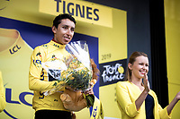 Egan Bernal (COL/Ineos) becomes the new GC leader and receives the Yellow Jersey. <br /> <br /> Stage 19: Saint-Jean-de-Maurienne to Tignes (126km)<br /> 106th Tour de France 2019 (2.UWT)<br /> <br /> ©kramon