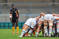 Christian Wade watches a scrum. Pre-season friendly match, between London Wasps and London Irish on August 24, 2013 at Adams Park in High Wycombe, England. Photo by: Patrick Khachfe / Onside Images