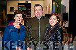 Aine Lynch with Padraig Walsh and Mary Walsh, The Spa, Tralee, pictured at 'The Cripple of Inishmaan' at Ardfert Community Centre on Friday night last.