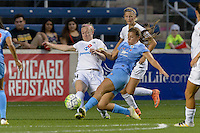 Chicago, IL - Wednesday Sept. 07, 2016: Becky Sauerbrunn, Sofia Huerta during a regular season National Women's Soccer League (NWSL) match between the Chicago Red Stars and FC Kansas City at Toyota Park.
