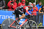 Richie Porte (AUS) BMC Racing Team in action during Stage 1, a 14km individual time trial around Dusseldorf, of the 104th edition of the Tour de France 2017, Dusseldorf, Germany. 1st July 2017.<br /> Picture: Eoin Clarke | Cyclefile<br /> <br /> <br /> All photos usage must carry mandatory copyright credit (&copy; Cyclefile | Eoin Clarke)