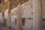 Israel, Judean desert, Masada, frescoes at the Northern Palace