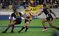 Beauden Barrett in action during the Super Rugby match between the Hurricanes and Chiefs at Westpac Stadium in Wellington, New Zealand on Friday, 13 April 2018. Photo: Dave Lintott / lintottphoto.co.nz