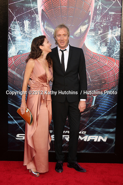 """LOS ANGELES - JUN 28:  Anna Friel, Rhys Ifans arrives at the """"The Amazing Spider-Man"""" Premiere at Village Theater on June 28, 2012 in Westwood, CA"""