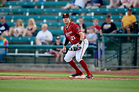Altoona Curve first baseman Will Craig (25) during a game against the Richmond Flying Squirrels on May 15, 2018 at Peoples Natural Gas Field in Altoona, Pennsylvania.  Altoona defeated Richmond 5-1.  (Mike Janes/Four Seam Images)