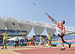 November 17 2011 - Guadalajara, Mexico:   Jackie Marciano competing in the Men's Javelin - F44 Final in the Telmex Athletic's Stadium at the 2011 Parapan American Games in Guadalajara, Mexico.  Photos: Matthew Murnaghan/Canadian Paralympic Committee