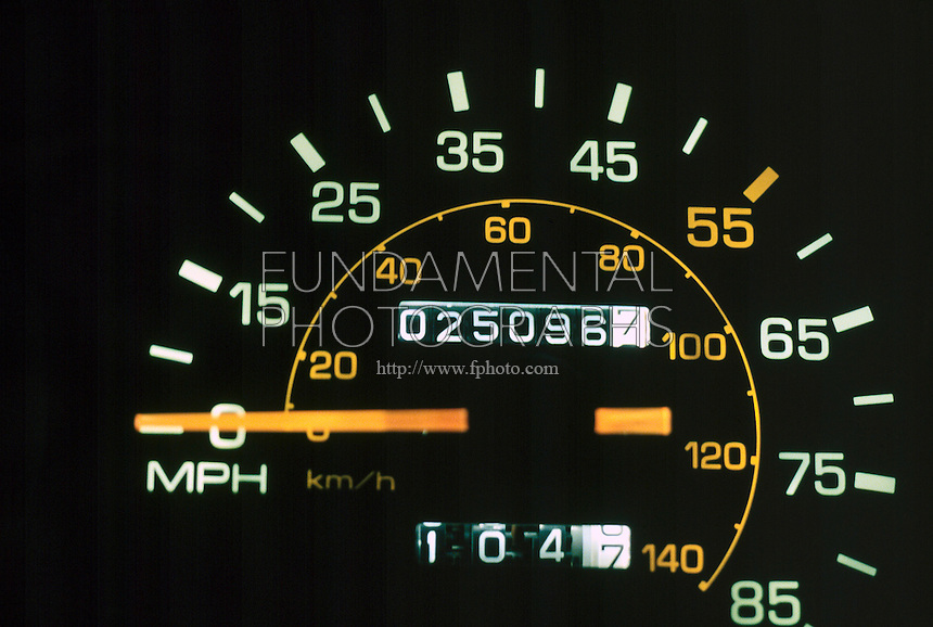 SPEEDOMETER READS MPH & KPH