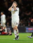 A dejected Guillermo Varela of Manchester United<br /> - Barclays Premier League - Bournemouth vs Manchester United - Vitality Stadium - Bournemouth - England - 12th December 2015 - Pic Robin Parker/Sportimage