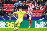 Atletico de Madrid's Gabi Fernandez (r) and Getafe CF's Francisco Portillo during La Liga match. January 6,2018. (ALTERPHOTOS/Acero) /NortePhoto.com NORTEPHOTOMEXICO