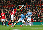 Raheem Sterling of Manchester City goes down in the box as Nemanja Matic of Manchester United gets behind him during the Carabao Cup match at Old Trafford, Manchester. Picture date: 7th January 2020. Picture credit should read: Darren Staples/Sportimage