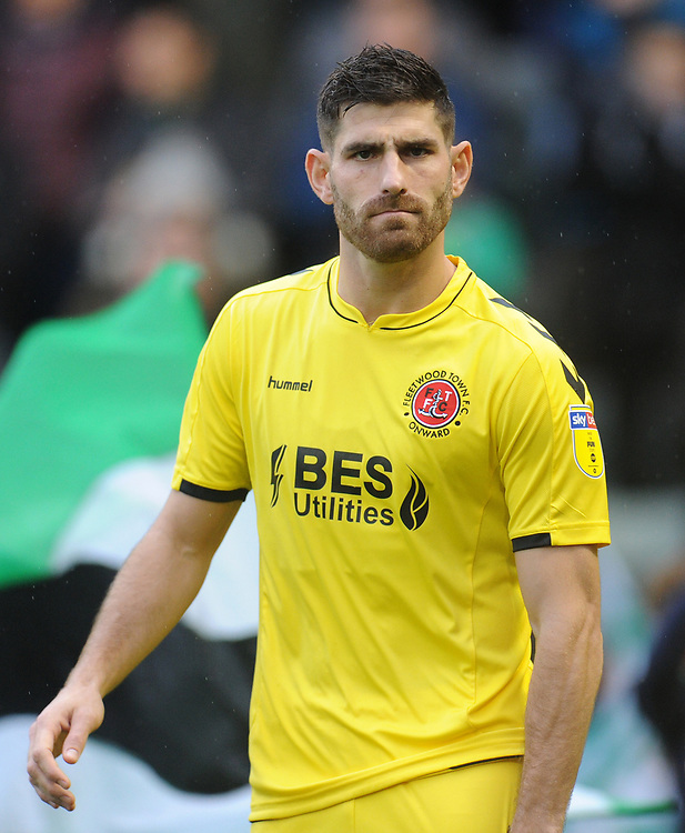 Fleetwood Town's Ched Evans<br /> <br /> Photographer Kevin Barnes/CameraSport<br /> <br /> The EFL Sky Bet League One - Plymouth Argyle v Fleetwood Town - Saturday 24th November 2018 - Home Park - Plymouth<br /> <br /> World Copyright © 2018 CameraSport. All rights reserved. 43 Linden Ave. Countesthorpe. Leicester. England. LE8 5PG - Tel: +44 (0) 116 277 4147 - admin@camerasport.com - www.camerasport.com