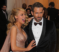 "NEW YORK CITY, NY, USA - MAY 05: Blake Lively, Ryan Reynolds at the ""Charles James: Beyond Fashion"" Costume Institute Gala held at the Metropolitan Museum of Art on May 5, 2014 in New York City, New York, United States. (Photo by Xavier Collin/Celebrity Monitor)"