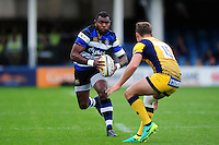 Semesa Rokoduguni of Bath Rugby in possession. Aviva Premiership match, between Bath Rugby and Worcester Warriors on September 17, 2016 at the Recreation Ground in Bath, England. Photo by: Patrick Khachfe / Onside Images