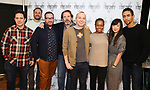 "Oliver Butler, Greg Keller, Michael Cyril Creighton, Thomas Jay Ryan, Jordan Harrison, Quincy Tyler Bernstine, Jennifer Kim, and Kyle Beltran attend the Meet & Greet for the cast of ""The Amateurs"" at the Shelter Studios on January 9, 2018 in New York City."