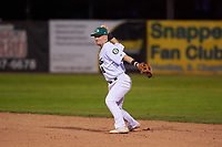 Beloit Snappers second baseman Nick Ward (8) during a Midwest League game against the Lake County Captains at Pohlman Field on May 6, 2019 in Beloit, Wisconsin. Lake County defeated Beloit 9-1. (Zachary Lucy/Four Seam Images)