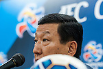 Jeonbuk Hyundai Motors coach Choi Kang-hee attends press conference ahead of the 2015 AFC Champions League Quarter-Final 1st Leg match between Jeonbuk Hyundai Motors and Gamba Osaka on August 25, 2015 at the Jeonju World Cup Stadium, in Jeonju, Korea Republic. Photo by Xaume Olleros /  Power Sport Images