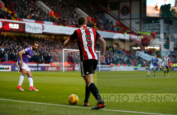 Jack O'Connell of Sheffield Utd hugs the touchline during the Championship match at Bramall Lane Stadium, Sheffield. Picture date 30th December 2017. Picture credit should read: Simon Bellis/Sportimage