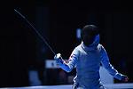 Karin Miyawaki (JPN), <br /> AUGUST 23, 2018 - Fencing : Women's Team Foil Seni-final at Jakarta Convention Center Cendrawasih during the 2018 Jakarta Palembang Asian Games in Jakarta, Indonesia. <br /> (Photo by MATSUO.K/AFLO SPORT)