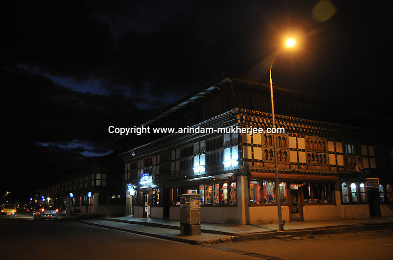 Paro market place at night. Arindam Mukherjee..