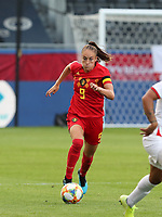 20190829 - LEUVEN , BELGIUM : Belgium's Tessa Wullaert is pictured during the female soccer game between the Belgian Red Flames and England , The Lionesses , a friendly womensoccer game in the preparation for the European Championship qualification round in group H for England 2021, Tuesday 29 th August 2019 at the King Power Stadion Den Dreef in Leuven , Belgium. PHOTO SPORTPIX.BE | SEVIL OKTEM