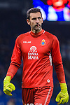 Goalkeeper Diego Lopez of RCD Espanyol in action during the La Liga 2018-19 match between RDC Espanyol and FC Barcelona at Camp Nou on 08 December 2018 in Barcelona, Spain. Photo by Vicens Gimenez / Power Sport Images