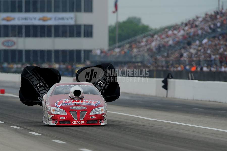 April 30, 2011; Baytown, TX, USA: NHRA pro stock driver Ronnie Humphrey during the Spring Nationals at Royal Purple Raceway. Mandatory Credit: Mark J. Rebilas-
