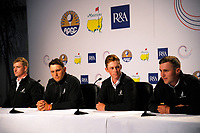 From left, NZ's Nick Voke, Ryan Chisnall, Dan Hillier and Luke Brown. 2017 Asia-Pacific Amateur Championship presser at Royal Wellington Golf Club in Wellington, New Zealand on Wednesday, 25 October 2017. Photo: Dave Lintott / lintottphoto.co.nz