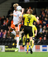 Blackpool's Armand Gnanduillet vies for possession with Burton Albion's Jake Buxton<br /> <br /> Photographer Chris Vaughan/CameraSport<br /> <br /> The EFL Sky Bet League One - Burton Albion v Blackpool - Saturday 16th March 2019 - Pirelli Stadium - Burton upon Trent<br /> <br /> World Copyright &copy; 2019 CameraSport. All rights reserved. 43 Linden Ave. Countesthorpe. Leicester. England. LE8 5PG - Tel: +44 (0) 116 277 4147 - admin@camerasport.com - www.camerasport.com