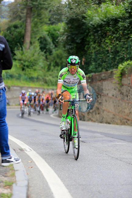 Stefano Pirazzi (ITA) Bardiani CSF on the final climb of Superga near the finish of the 2015 96th Milan-Turin 186km race starting at San Giuliano Milanese, Italy. 1st October 2015.<br /> Picture: Eoin Clarke | Newsfile