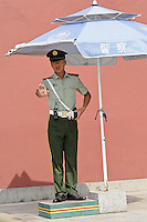 Chinese policeman, Forbidden City, Beijing, China