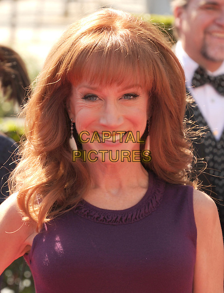 Kathy Griffin.2012 Creative Arts Emmy Awards at Nokia Theatre L.A. Live, Los Angeles, California USA..15 September 2012.emmys headshot portrait sleeveless purple  .CAP/ROT/TM.© TM/Roth/Capital Pictures