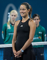 Ana Ivanovic of Serbia in action at the Brisbane International