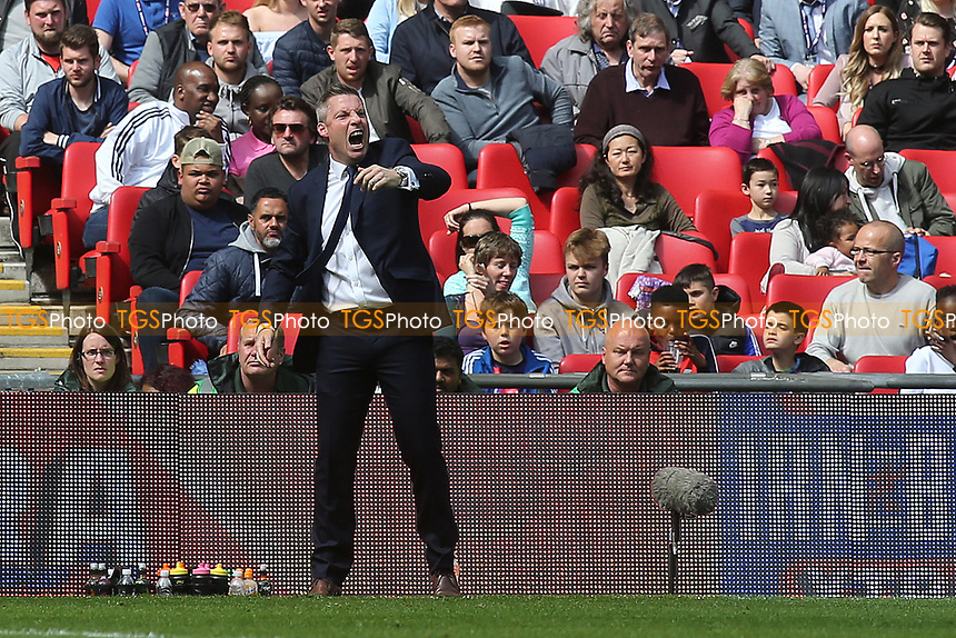 Millwall Manager, Neil Harris during Bradford City vs Millwall, Sky Bet EFL League 1 Play-Off Final at Wembley Stadium on 20th May 2017