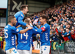 09.12.2018 Dundee v Rangers: Rangers celebrate Andy Halliday's goal