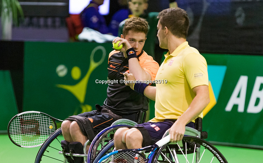 Rotterdam, The Netherlands, 14 Februari 2019, ABNAMRO World Tennis Tournament, Ahoy, Wheelchair, doubles,<br /> Photo: www.tennisimages.com/Henk Koster