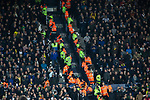 Police and stewards separate rival fans in the stands during the first-half as West Bromwich Albion take on Leeds United in a SkyBet Championship fixture at the Hawthorns. Formed in 1878, the home team were relegated from the English Premier League the previous season and were aiming to close the gap on the visitors at the top of the table. Albion won the match 4-1 watched by a near-capacity crowd of 25,661.