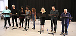 """James Monroe Iglehart, Nick Cordero, Amma Osei, Amber Iman, Allison Semmes, Megan Hilty, Josh Radnor and Lee Wilkof In Rehearsal with the Kennedy Center production of """"Little Shop of Horrors"""" on October 11 2018 at Ballet Hispanica in New York City."""